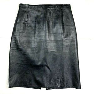 Vintage 100% Genuine Leather Pencil Skirt